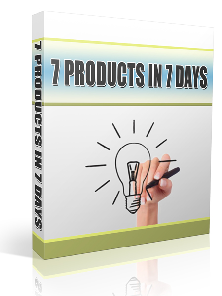 7 Products In 7 Days -Amazing Secrets Of Warp Speed Product Creation!