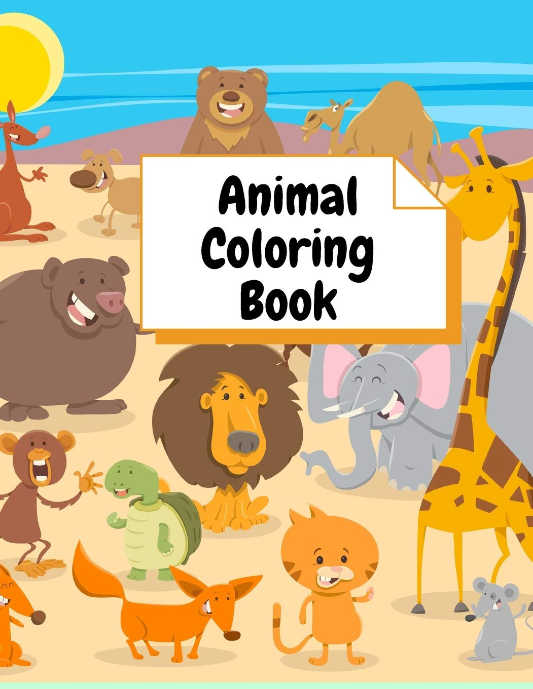 Coloring Books Animal Coloring Book:: For Girls & Boys Aged 3-8